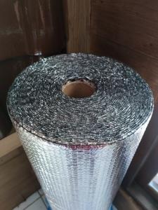 Aluminum foil dobel side buble